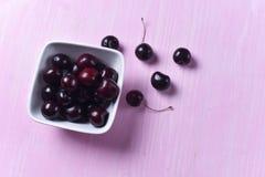 Состав зрелой сладостной вишни Стоковые Изображения