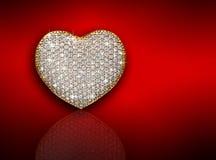 Состав диаманта сердца связанный вектор Валентайн иллюстрации s 2 сердец дня Стоковая Фотография RF