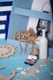Состав игрушек матросов для ребенка Стоковое Изображение