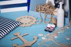 Состав игрушек матросов для ребенка Стоковые Фотографии RF