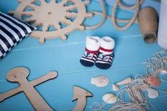 Состав игрушек матросов для ребенка Стоковое Фото