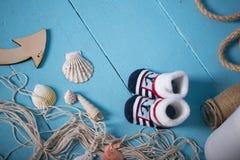 Состав игрушек матросов для ребенка Стоковая Фотография RF