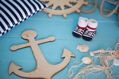 Состав игрушек матросов для ребенка Стоковая Фотография