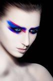 Состав искусства красоты творческий на черной предпосылке Стоковые Изображения