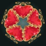 Состав камня самоцвета цветка Стоковые Изображения RF