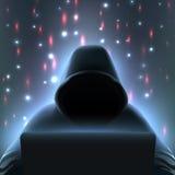 Состав компьютера хакера реалистический иллюстрация вектора
