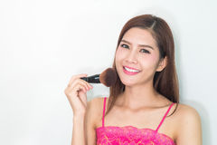состав косметика Основание для совершенного состава Make-up применяться составляет Стоковые Фотографии RF