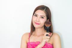 состав косметика Основание для совершенного состава Make-up применяться составляет Стоковые Фото