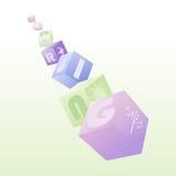 Состав кубов весны Стоковая Фотография