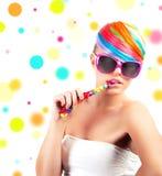 Состав моды радуги красочный Стоковое Фото