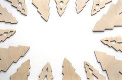 Состав Нового Года с соснами от переклейки Предпосылка рождества для представления работы или текста красивейше Стоковая Фотография RF