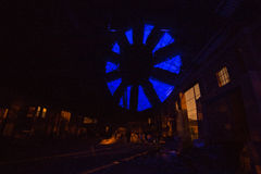 Состав ночи фабрики стоковые фотографии rf