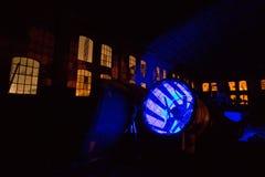 Состав ночи фабрики стоковое изображение rf