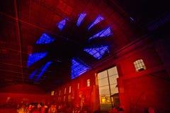 Состав ночи фабрики стоковые изображения