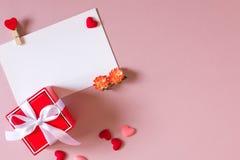 Состав дня валентинки Стоковое Изображение