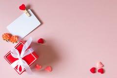 Состав дня валентинки Стоковая Фотография