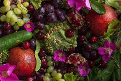 Состав от овощей и плодоовощ стоковые изображения