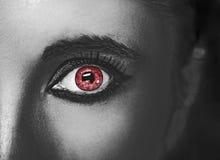 Состав очарования сияющий металлический профессиональный красивейший близкий глаз вверх Стоковая Фотография