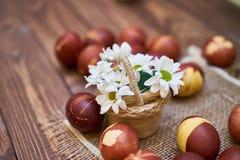 Состав пасхальных яя стоковое фото rf