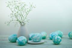 Состав пасхальных яя стоковые фото