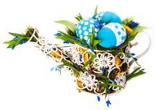 Состав пасхи с точкой польки яичек Стоковые Изображения RF