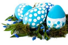 Состав пасхи с точкой польки яичек Стоковое Изображение RF