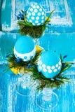 Состав пасхи с точкой польки яичек Стоковое Фото