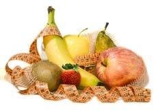 Состав плодоовощ, принципиальная схема сбалансированного диетпитания Стоковые Изображения RF