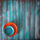 Состав 2 покрашенных плит Стоковая Фотография