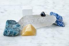 Состав покрашенных самоцветных минералов Установите design стоковое изображение