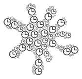 Состав помаркой значков времени иллюстрация вектора
