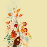 состав предпосылки осени флористический Стоковая Фотография RF