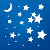 Состав предпосылки вектора с бумажными звездами Стоковое Изображение