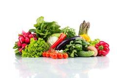 Состав при сырцовые овощи изолированные на белизне Стоковые Фотографии RF