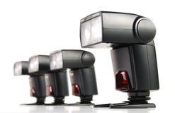 Состав при 4 изолированной вспышки камеры стоковые изображения