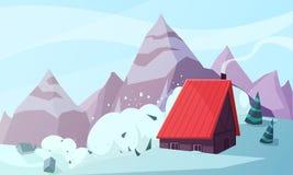 Состав пурги горы плоский бесплатная иллюстрация