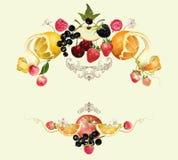 Состав плодоовощ и ягоды иллюстрация вектора