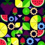 состав плодоовощ на темной предпосылке с упрощенные виноградины Стоковые Фото