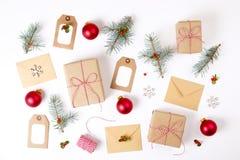 Состав рамки рождества Стоковые Фотографии RF