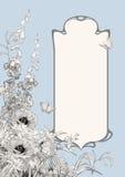 Состав рамки стиля Арт Деко ботанический Стоковые Фотографии RF