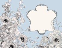 Состав рамки стиля Арт Деко ботанический Стоковые Фото