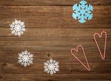 Состав рождества на деревянной предпосылке стоковое изображение rf