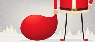 Состав рождества ног и рук положения Санта Клауса иллюстрация штока