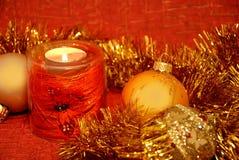 состав рождества свечки Стоковые Фотографии RF
