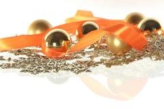 Состав рождества с гирляндой Стоковое фото RF
