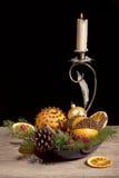 Состав рождества с померанцовыми pomanders стоковая фотография