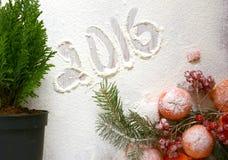 Состав рождества мандарина Стоковое фото RF