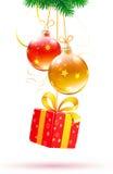 состав рождества декоративный Стоковые Фото