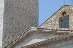 Состав старых крыш зданий в Assisi стоковое фото rf