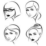 состав стилей причёсок Стоковая Фотография RF